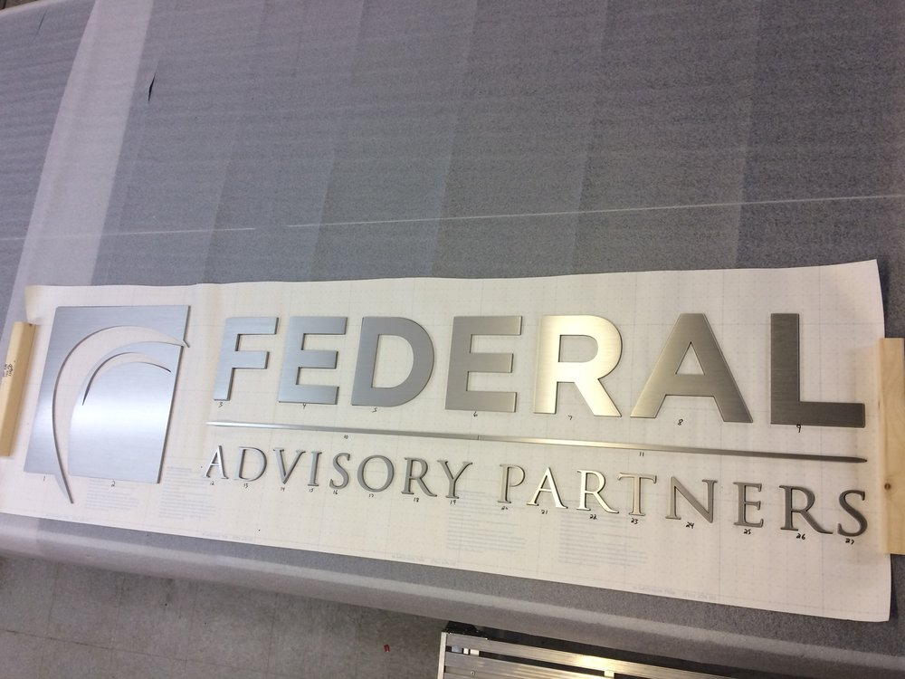 Custom Metal Sign-Federal Advisory Partners-right.JPG