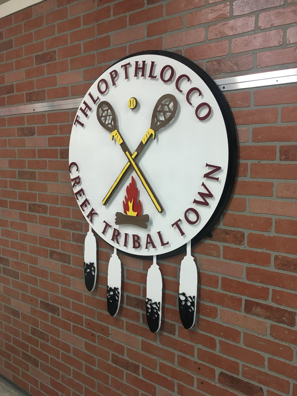 Custom Metal Sign-Thlopthlocco Tribal Town-Right.JPG