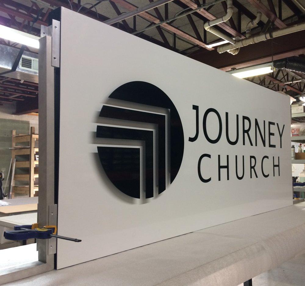 Custom Metal Sign-Journey Church-Left.JPG