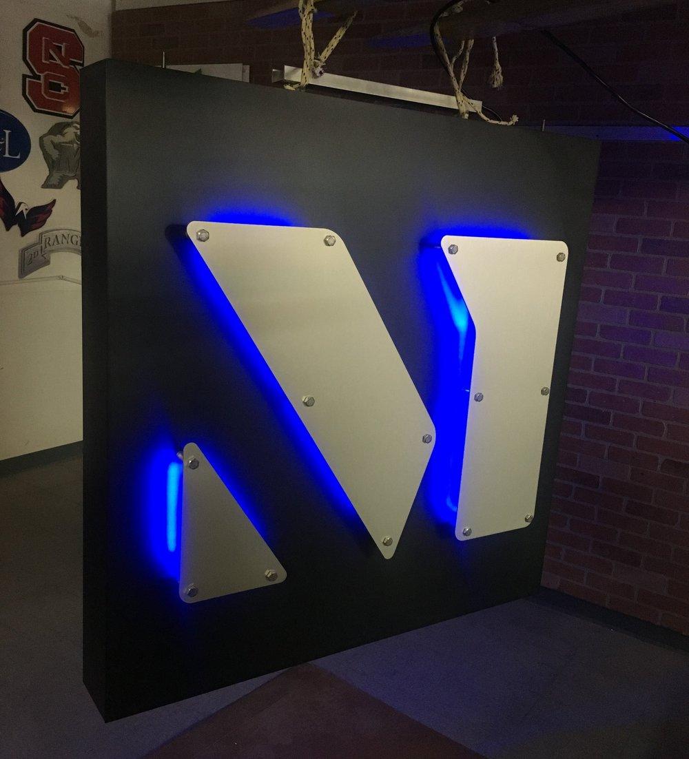 Custom Metal Sign-Merritt Properties-lit blue.JPG