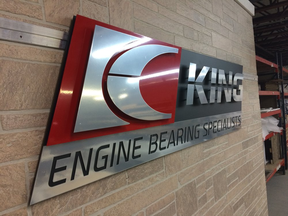 Custom Metal Sign-King Engine Bearings-Left.JPG
