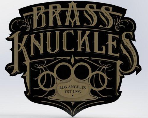 Solidworks 3D Mockup of the Brass Knuckles Sign
