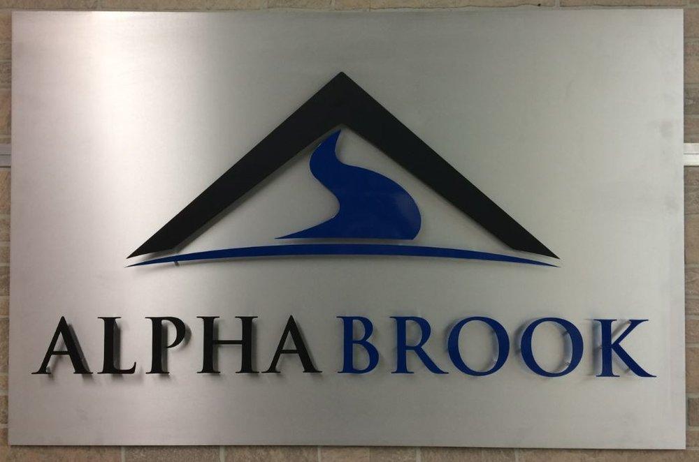 1 - Aluminum - Custom Metal Sign - Alpha Brook (snip).JPG