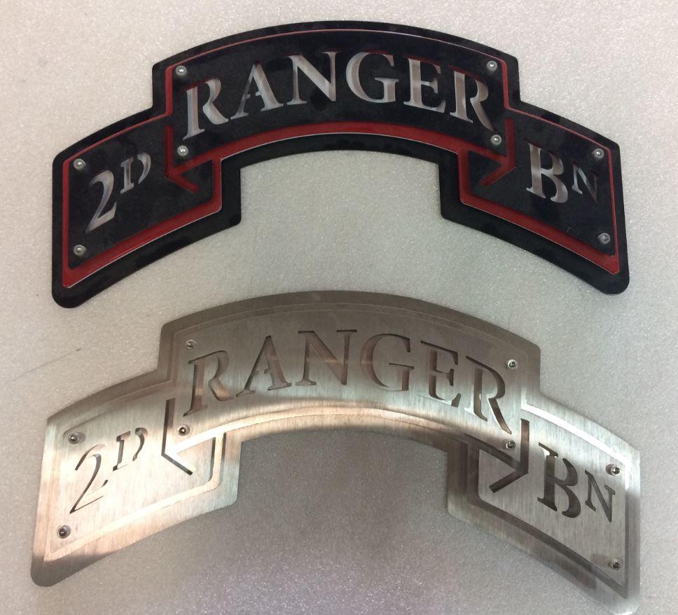 4 - Steel - Custom Metal Sign- Army Rangers.JPG