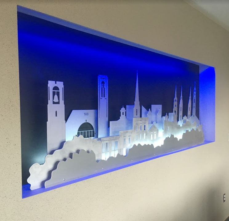 Custom 8ft wide Frederick Spires for a board room