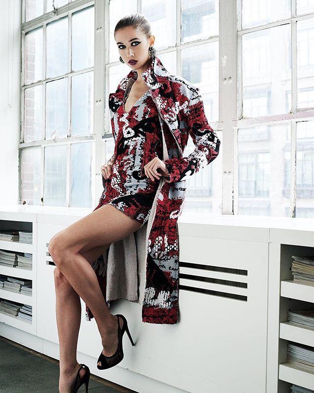 The wonderful @k80schmid 💎 Stylist @el.lewis Makeup&Hair @makeuppronewyork #testing #talent #beautiful #woman #ramossolis