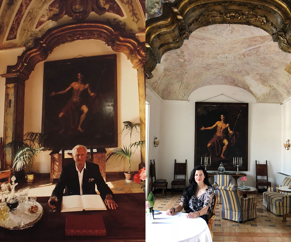 Slim Aarons work on the left and my recreation on the right (obviously!)