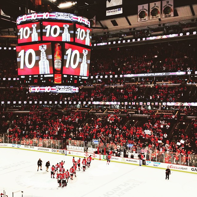May 3rd - Hawks beat Dallas Stars 4-1 in Game 2 of the second round. Kane scored his 100th (and his 101st) playoff point!