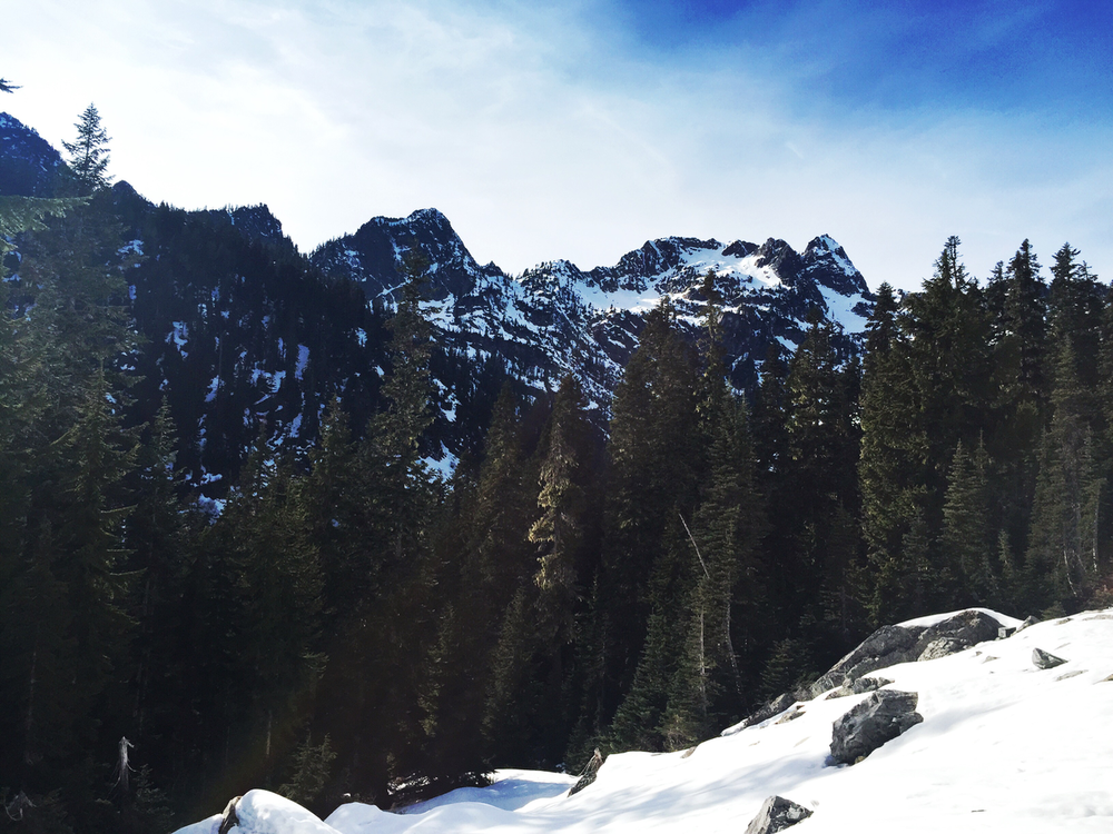 Hiking near Snoqualmie Pass