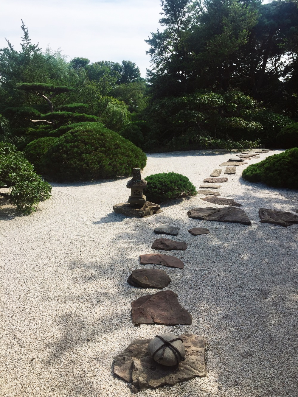 The rock garden in the Japanese garden section