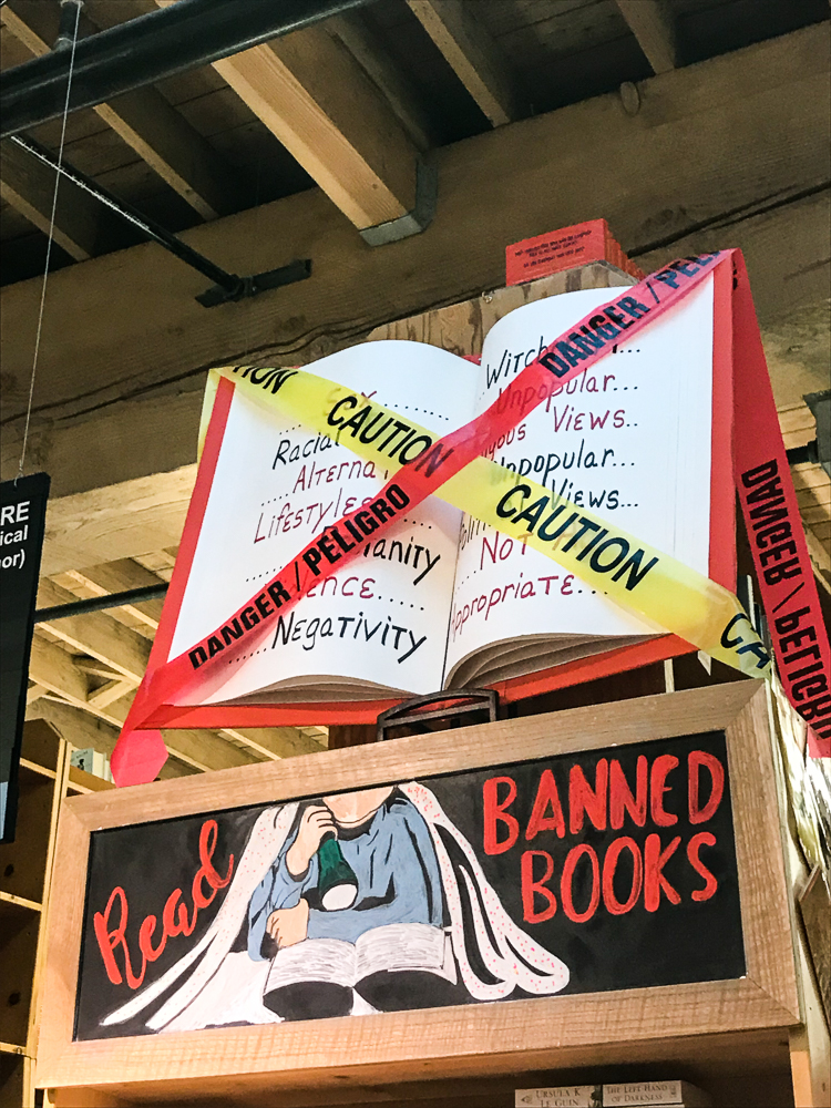 Banned Books Display at Powell's