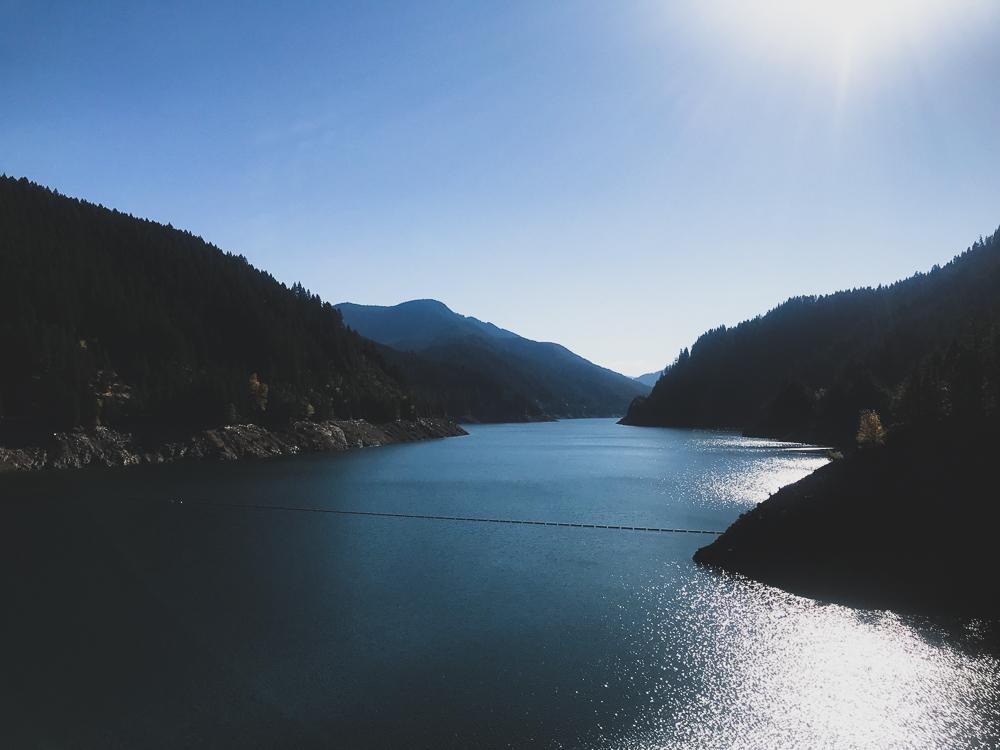 Cougar Reservoir in Willamette National Forest