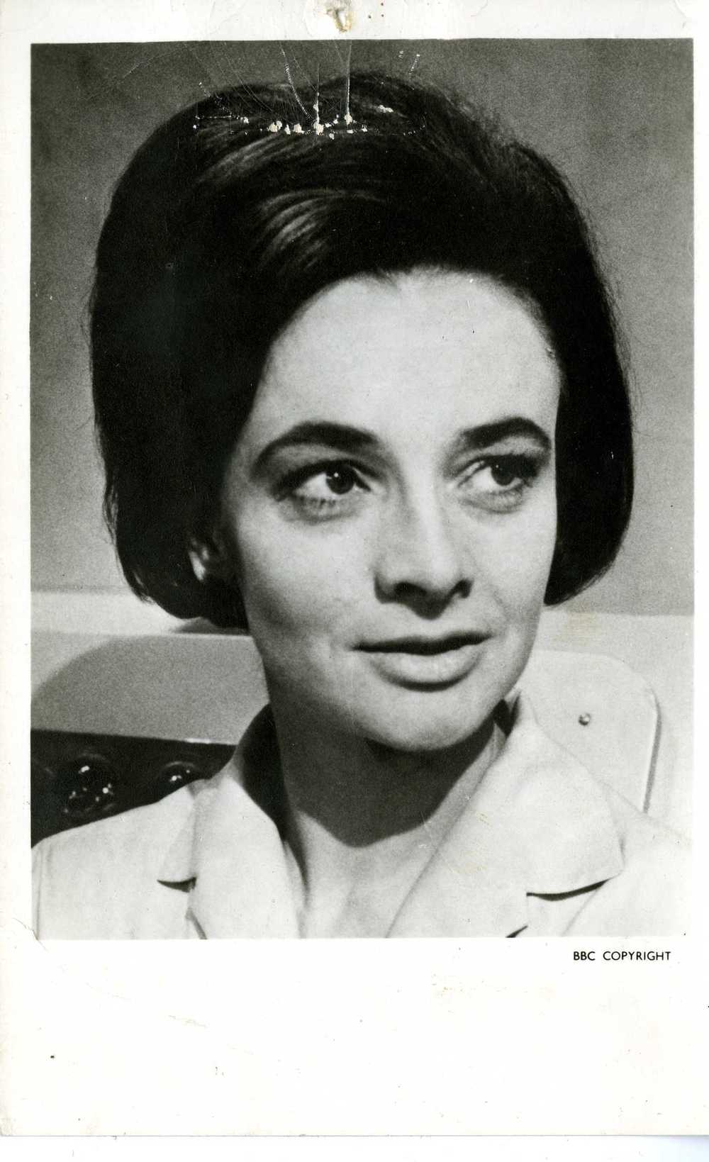 Early BBC Promotional Photo Card of Jacqueline Hill