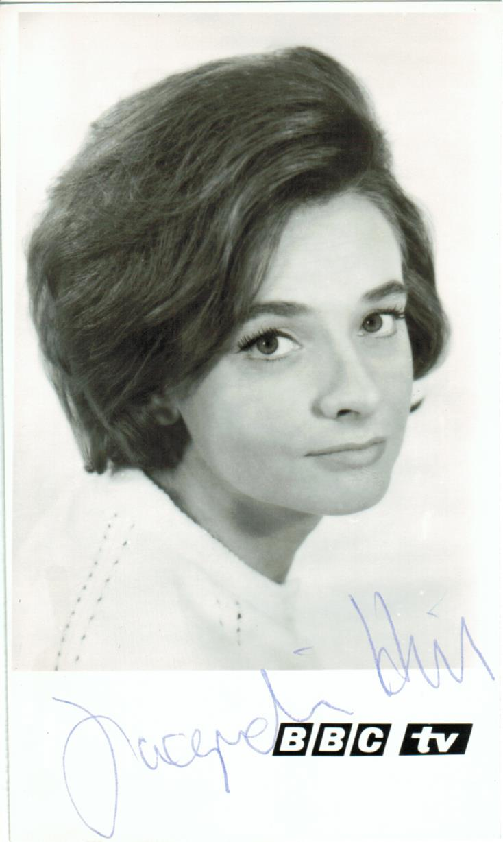 BBC TV Cast Card of Jacqueline Hill as Barbara Wright