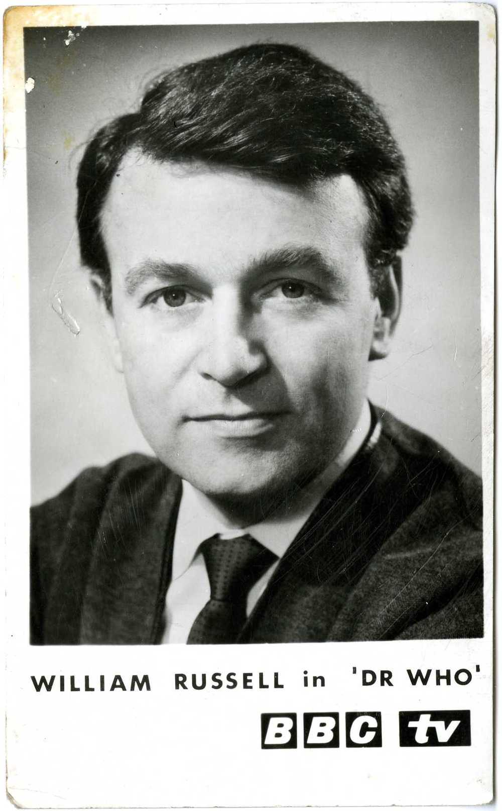 BBC TV Cast Card of William Russell as Ian Chesterton