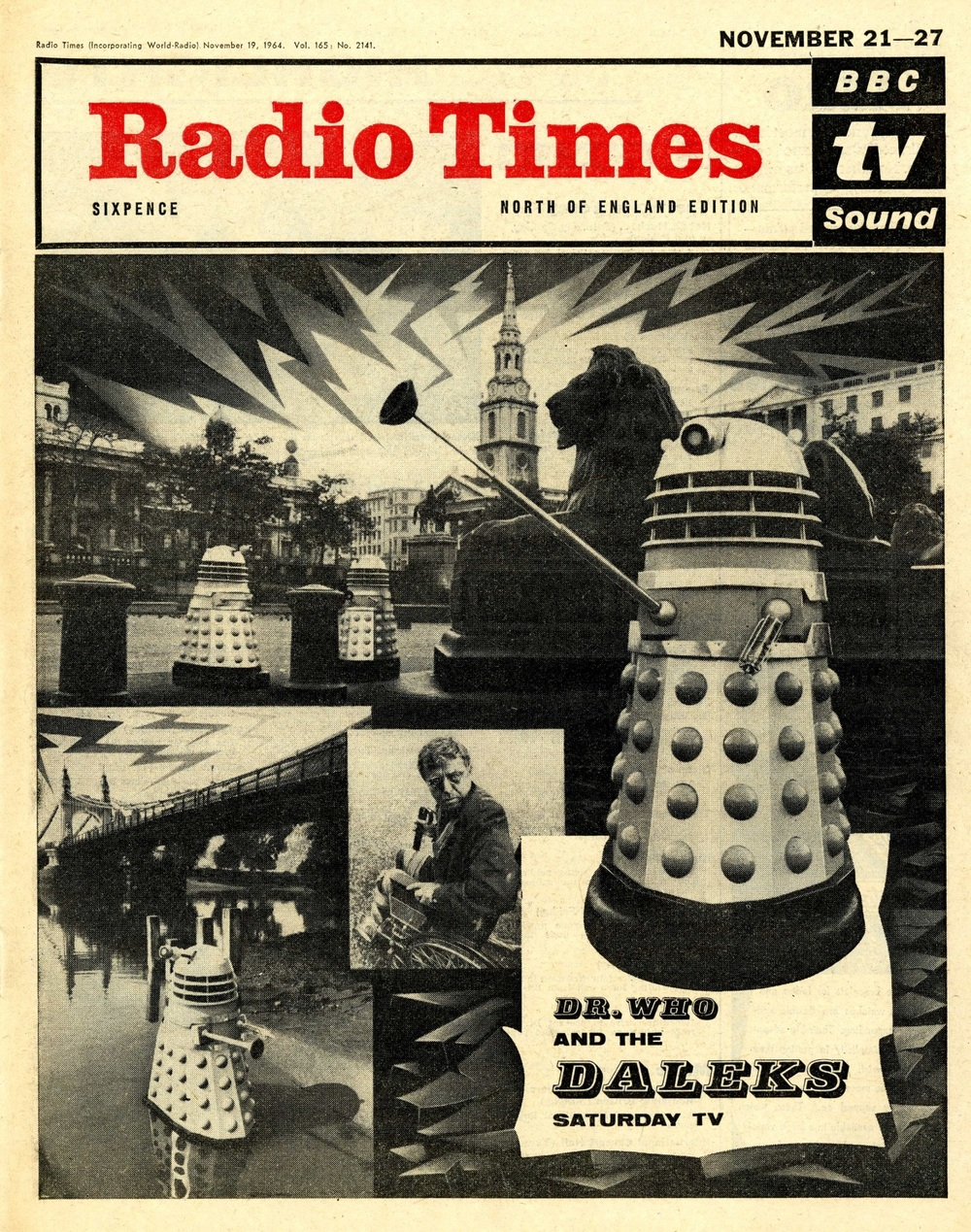 Radio Times. The Dalek Invasion of Earth cover, 21-27 November 1964