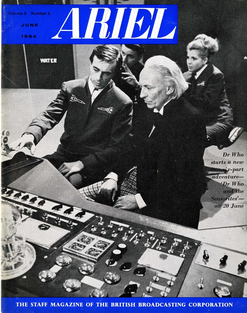 Ariel, the BBC's staff magazine with cover featuring The Sensorites, Vol. 9, No. 6, June 1964