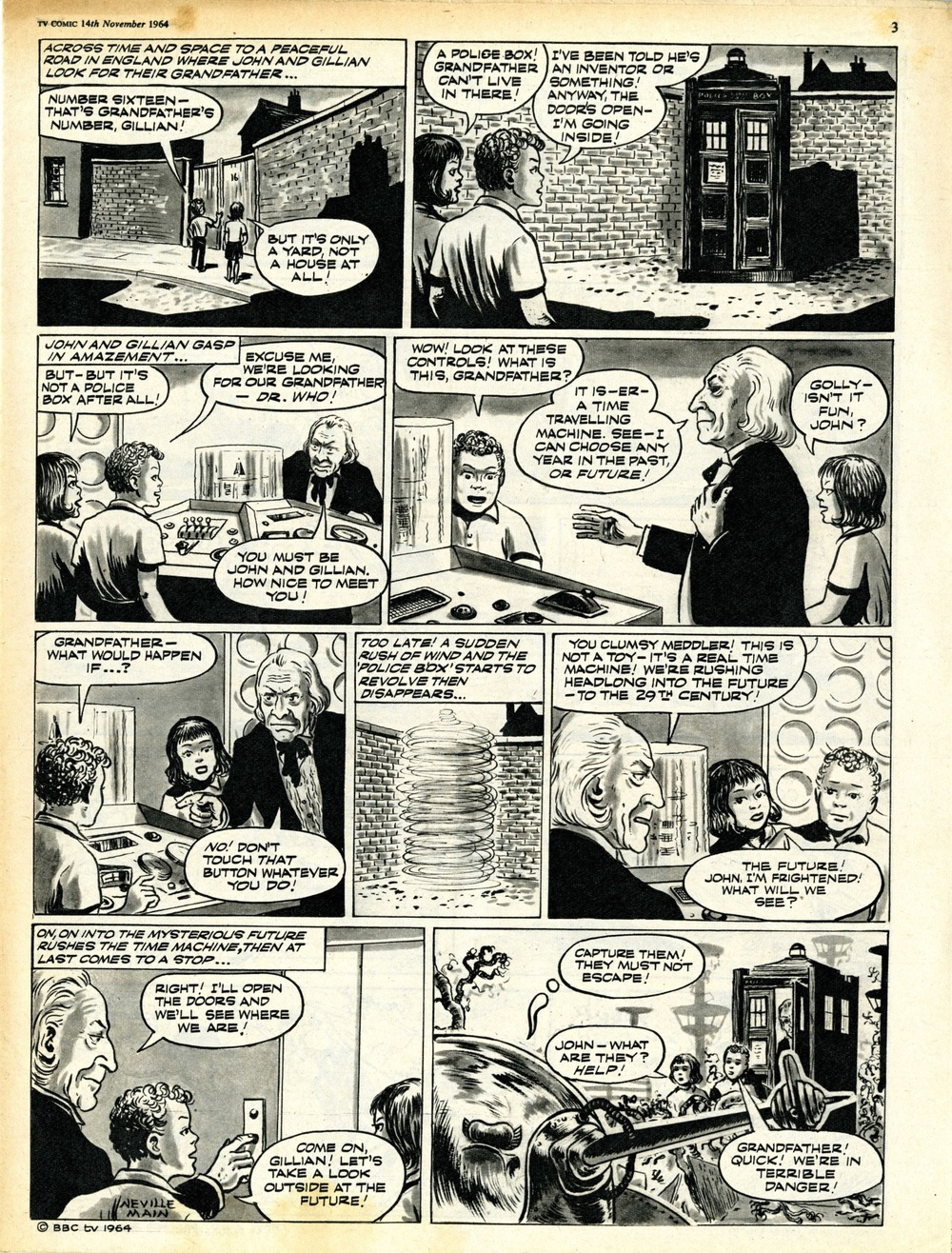 TV Comic No. 674, 14 November 1964, page 2 of The Klepton Parasites