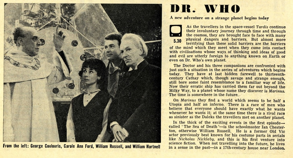 Radio Times. Keys of Marinus article, 11-17 April 1964