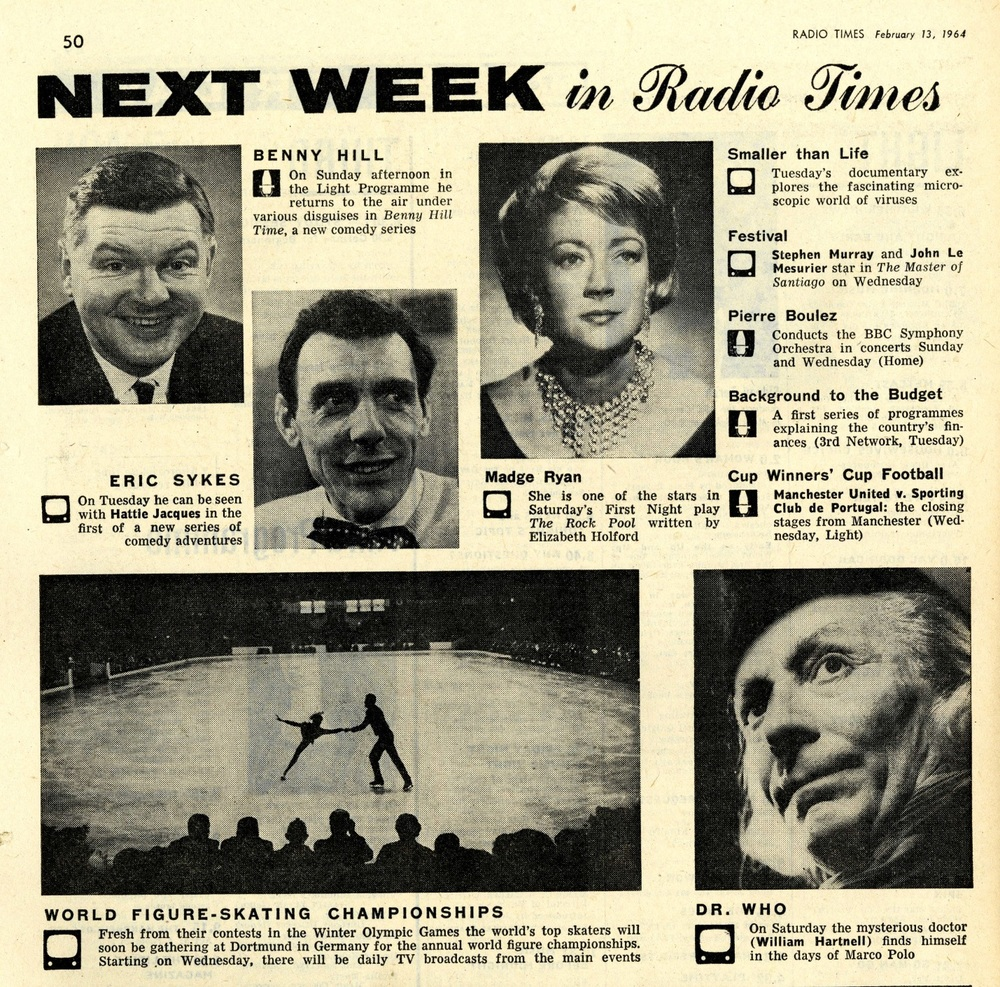 Radio Times. Preview of Marco Polo, 15-21 February 1964