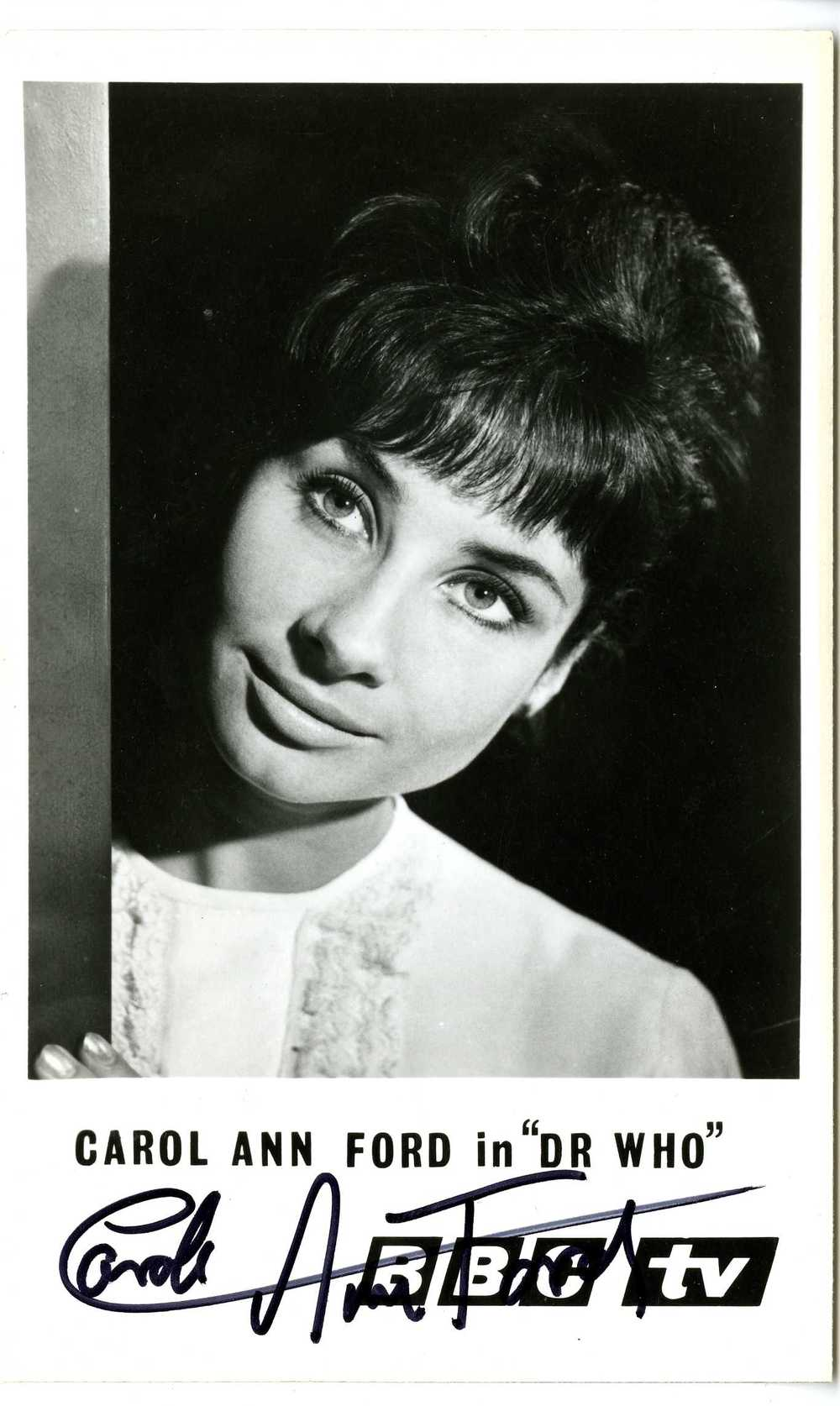 BBC TV Cast Card of Carole Ann Ford as Susan Foreman