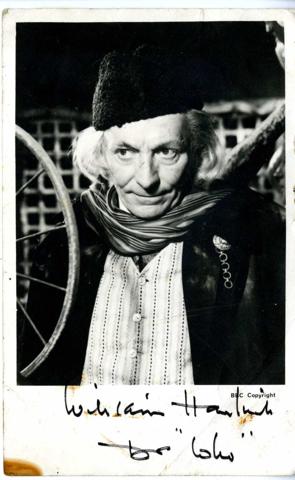 BBC TV Cast Card of William Hartnell as the Doctor
