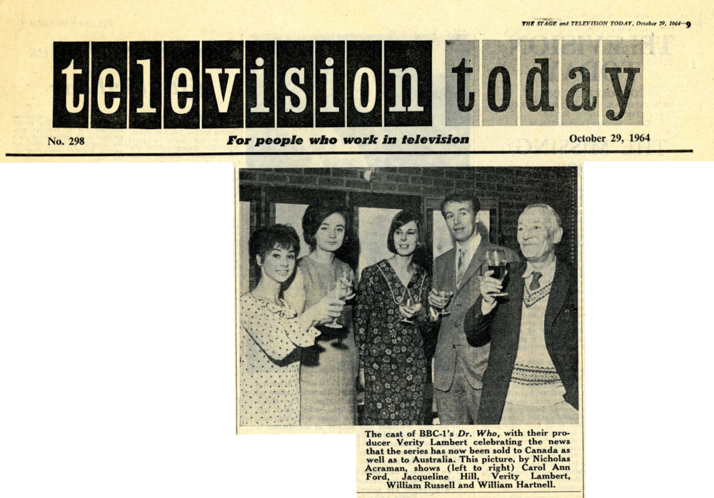 Stage and Television Today, 29 October 1964