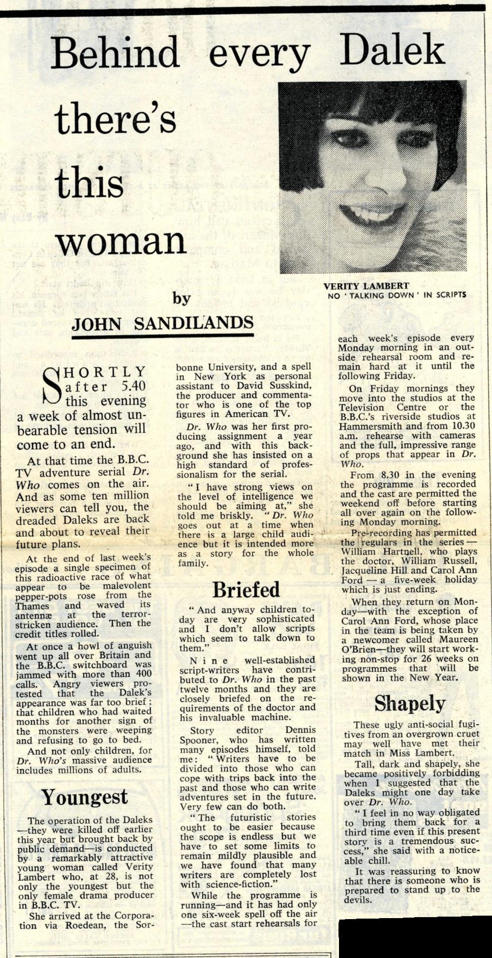 Daily Mail, 26 November 1964