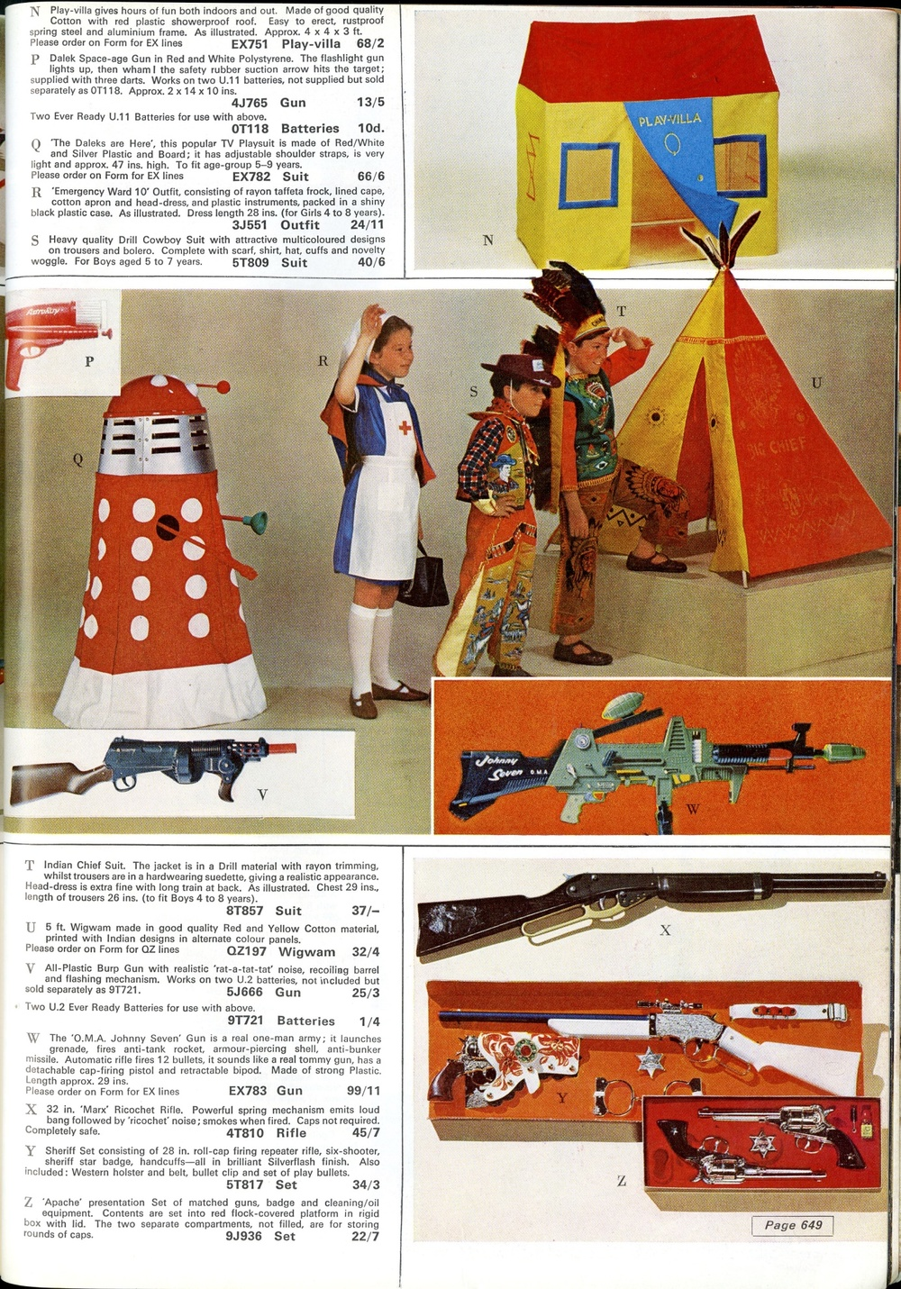 Berwick's Toy Co. Ltd., ad. for Dalek playsuit in the 1965 Grattans catalogue