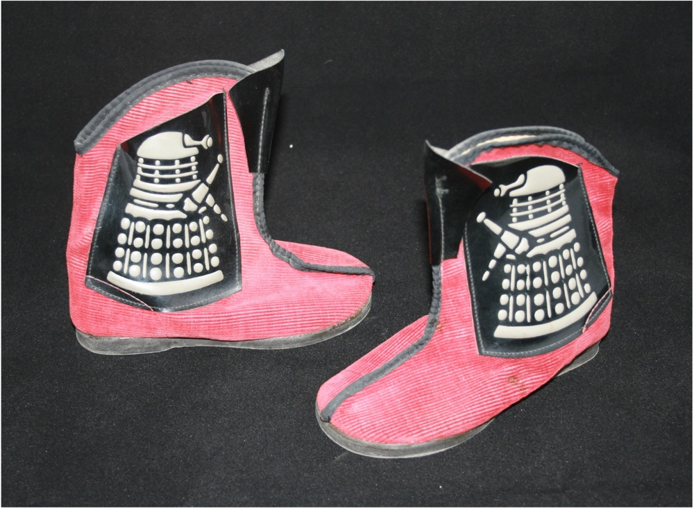 Furness Footwear Ltd., Dalek slippers (second version with embossed Daleks on plastic pockets). WANTED - Original shoebox.