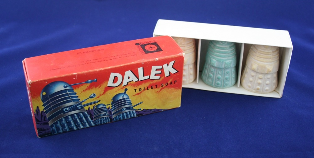 Scorpion Universal Toys Ltd., Dalek Toilet Soap (with soap made by The Northamptonshire (Town & County) Association for the Blind)