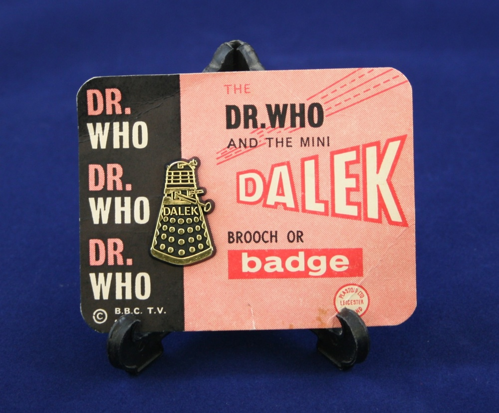 Plastoid Ltd., Dr. Who and the mini Dalek Brooch or Badge