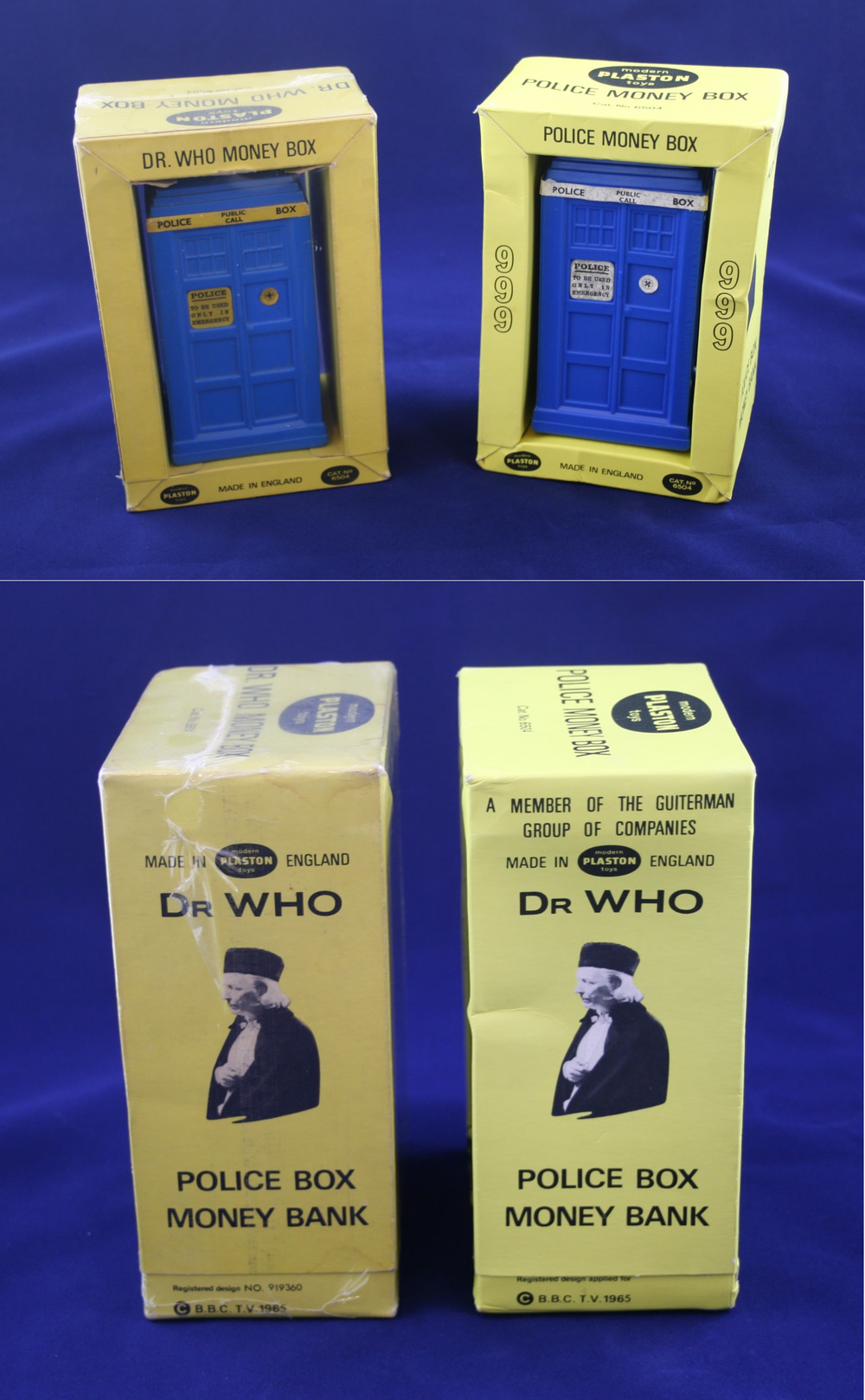 Raphael Lipkin Ltd., Plaston Toys TARDIS money box (two variants)