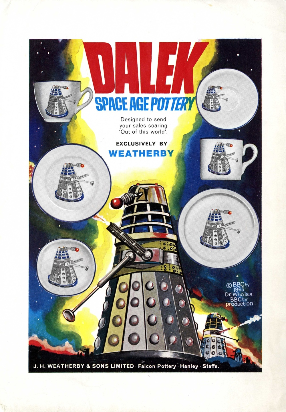 J H Weatherby and Son Ltd., flier for the range of Dalek Pottery