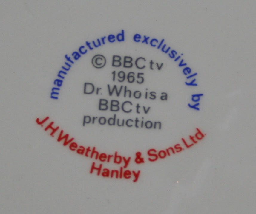 J H Weatherby and Sons Ltd., Dalek pottery mark
