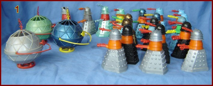 Figure 1 - Cherilea Mechanoids and Daleks