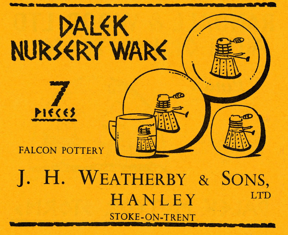 Ad. for the J H Weatherby Dalek pottery from the Supplement to Games and Toys, September 1965