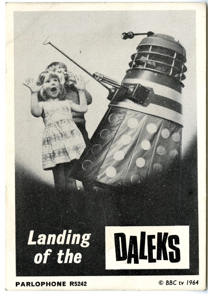 Promotional card for The Landing of the Daleks released by Parlophone