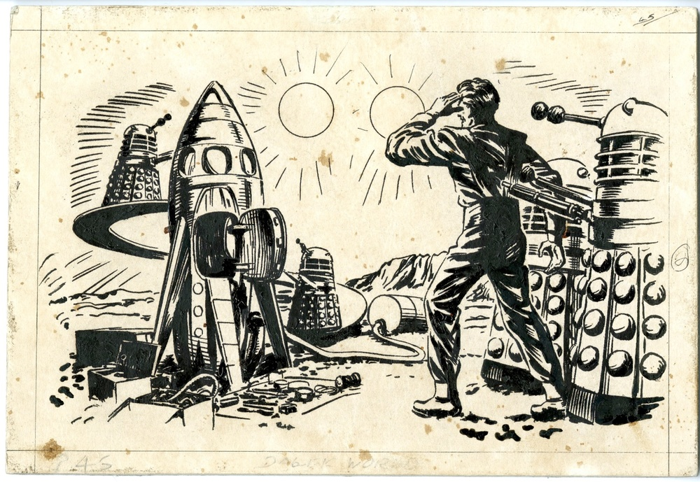 Original artwork from The Dalek World