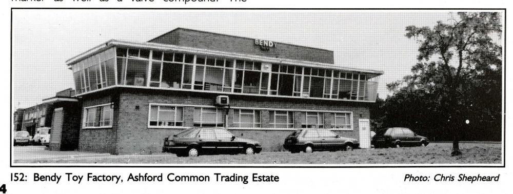 Photograph of the Bendy Toy Factory from the Newfeld Ltd. 1967 Annual Report