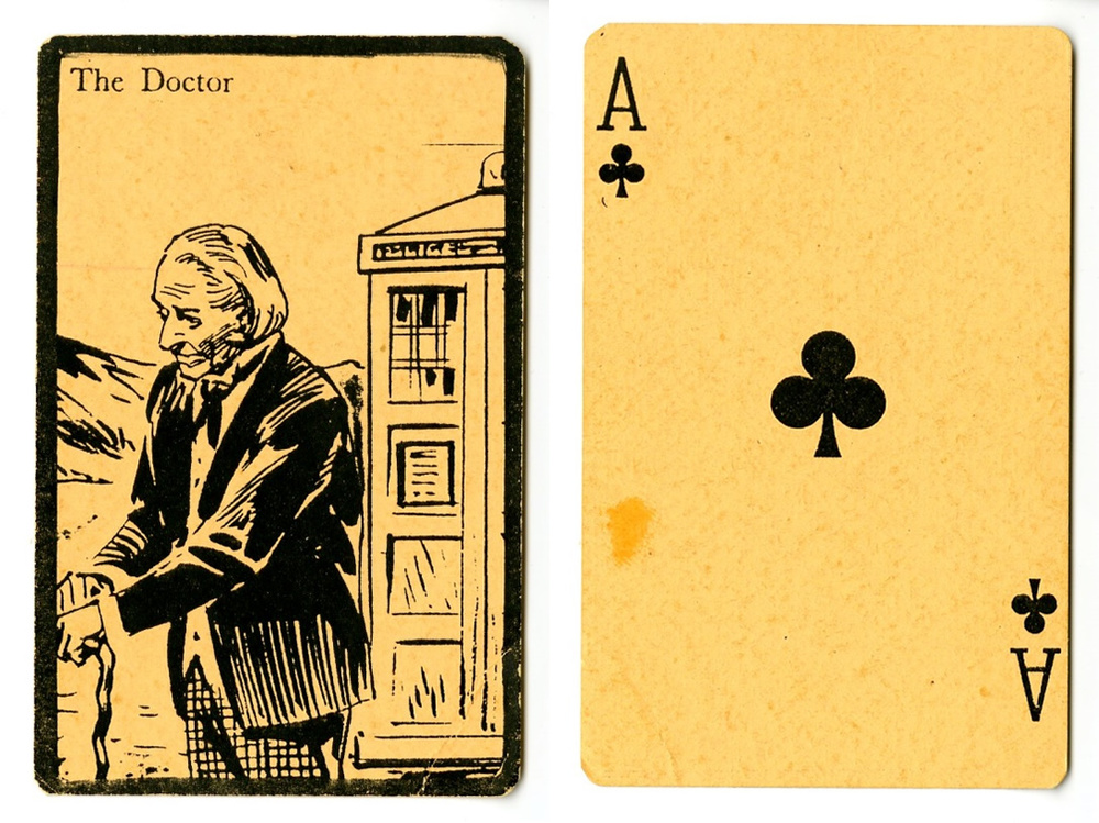 Playing card with image of The Doctor of unknown origin; reportedly from Australia