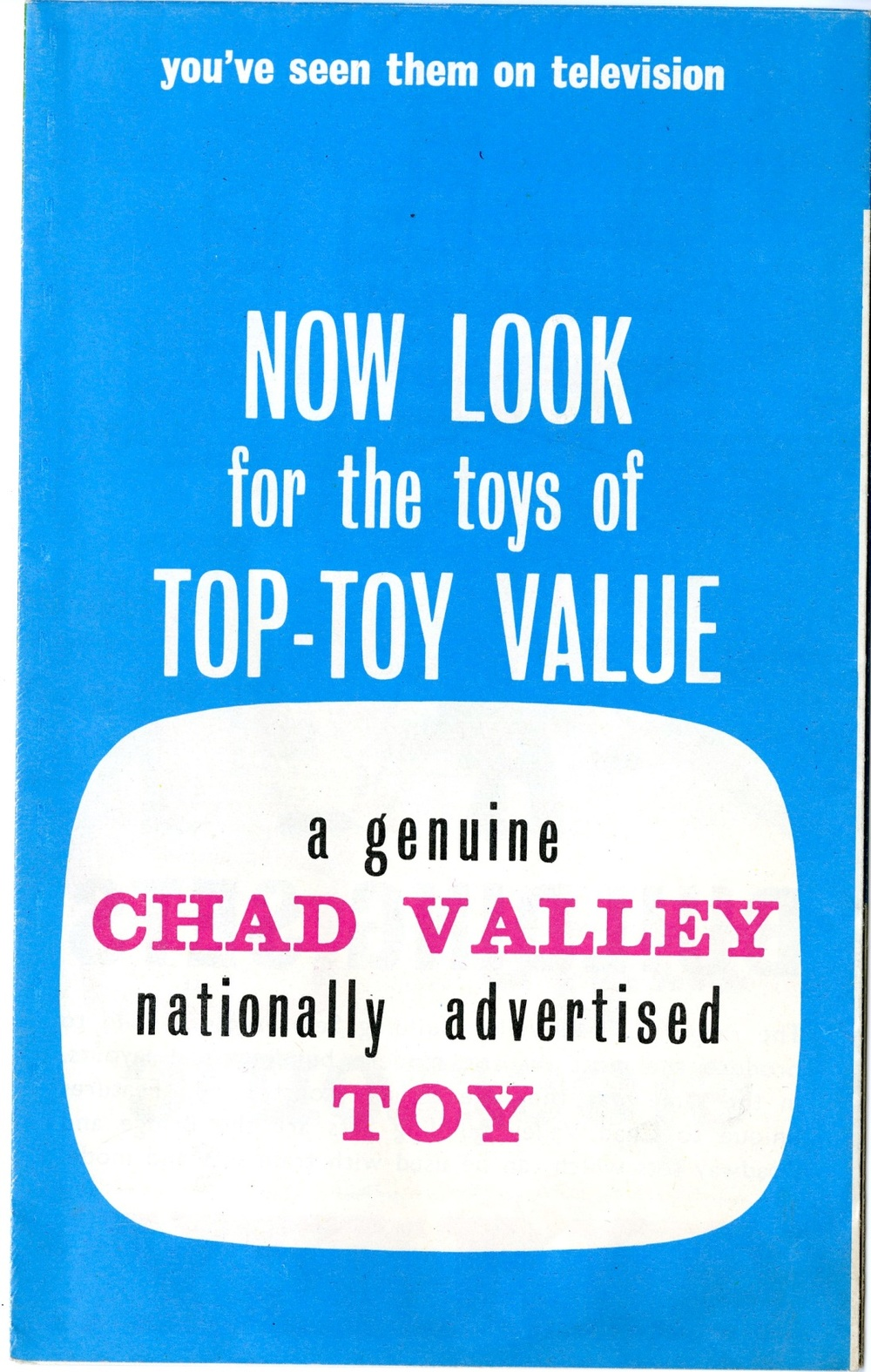 Back cover of Chad Valley Give-A-Show Projectors advertising brochure