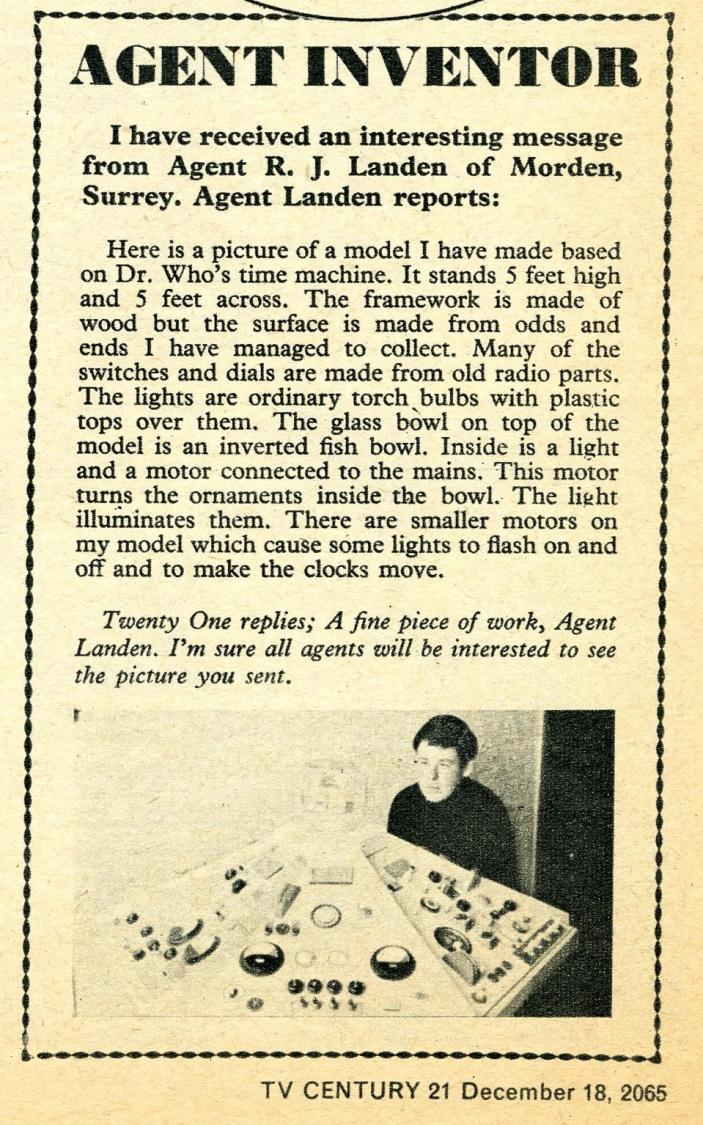 Letter in TV Century 21 #48