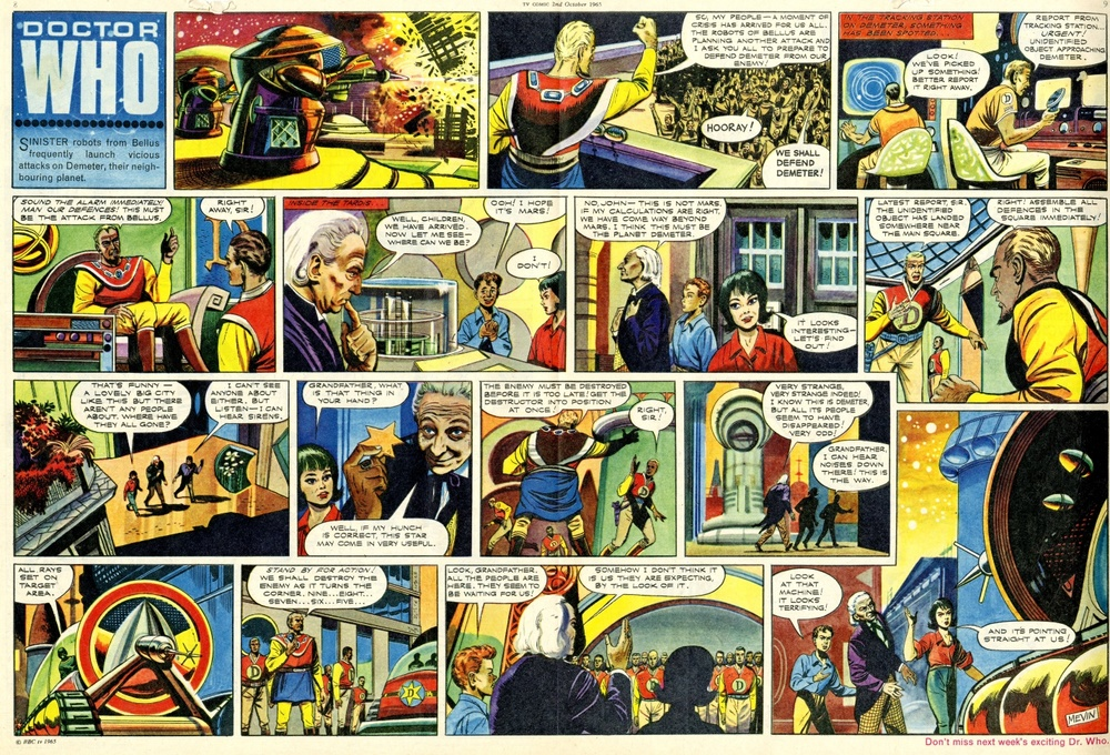 TV Comic #720, October 2, 1965 with first full colour Doctor Who strip
