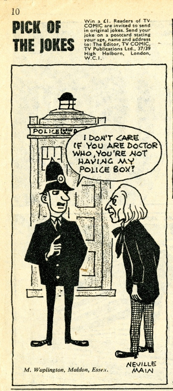 TV Comic #696, April 17, 1965 with Doctor Who cartoon