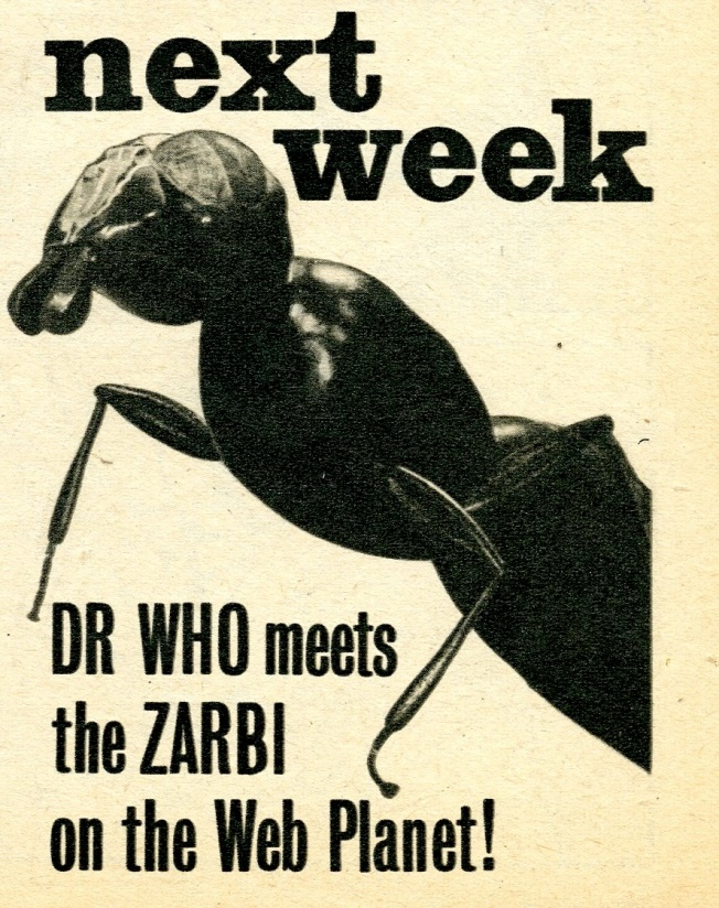 TV Comic #692, March 20, 1965 previewing appearance of the Zarbi