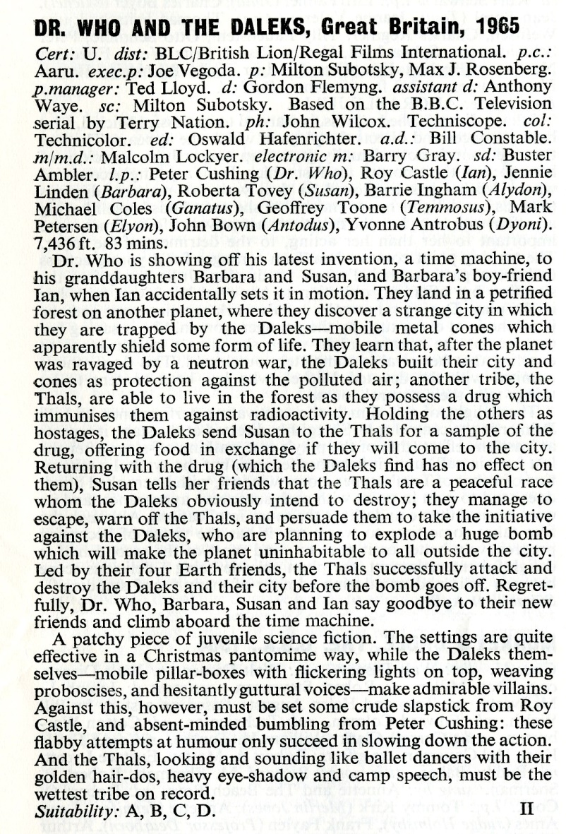 Article from BFI Monthly Film Bulletin, August 1965