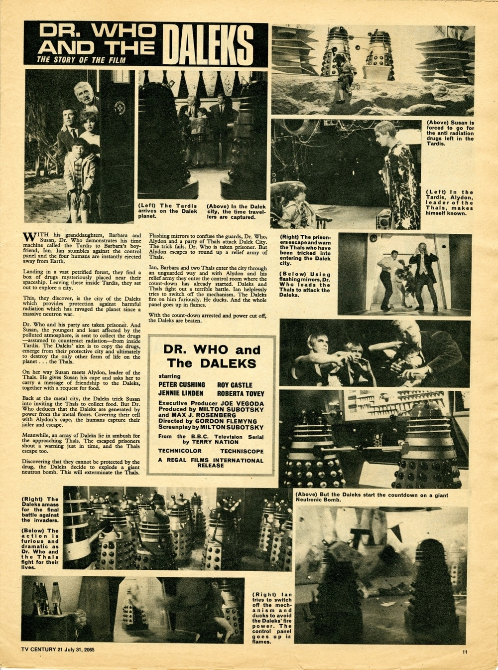 TV Century 21 no. 28, The Story of the Film, 31 July 2065 (1965)