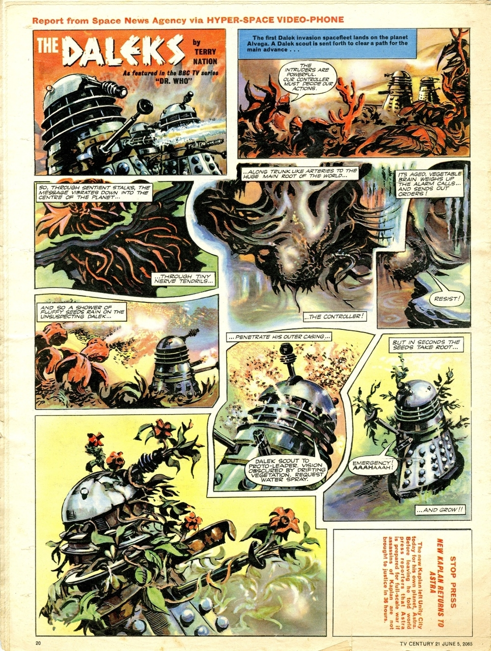 Dalek strip as published in TV Century 21 #20