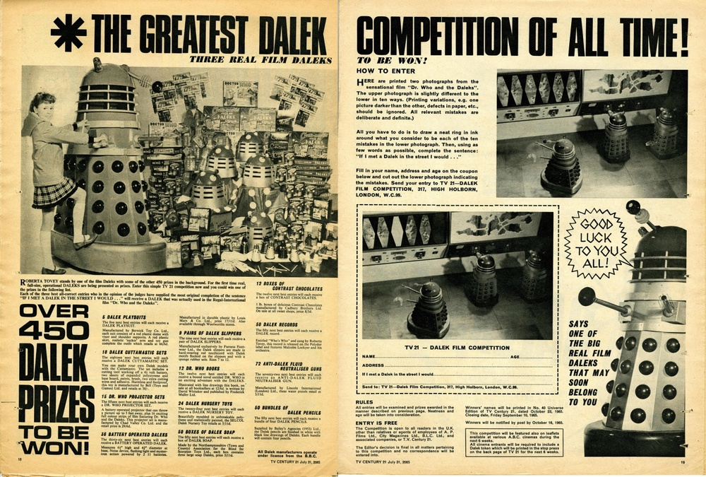 TV Century 21 no. 28, Dalek Competition, 31 July 2065 (1965)
